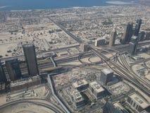 Vista delle strade e della costa del Dubai Immagine Stock