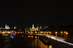 Vista delle torrette di Mosca Kremlin Fotografia Stock