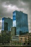 Vista delle torri di Isozaki, a Bilbao Immagini Stock Libere da Diritti