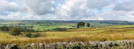 Vista delle vallate di Yorkshire vicino a Summerbridge, North Yorkshire fotografia stock libera da diritti