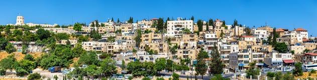 Vista delle vicinanze arabe a Gerusalemme Immagini Stock