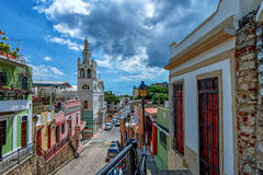 Vista delle vie di Santo Domingo Immagine Stock Libera da Diritti