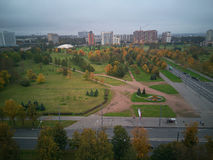 Vista delle vie St Petersburg dal tetto Fotografia Stock Libera da Diritti