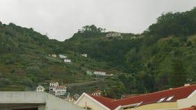 Vista delle ville sopra a nord-ovest del Madera video d archivio