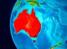 Vista dello spazio dell'Australia nel rosso Fotografia Stock