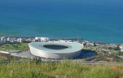 Vista dello stadio e dell'Oceano Atlantico di Cape Town Fotografia Stock Libera da Diritti