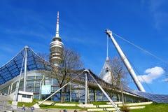 Vista dello Stadio Olimpico a Monaco di Baviera Fotografie Stock Libere da Diritti