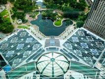 Vista dello stagno dalla torre gemella Fotografie Stock Libere da Diritti