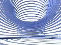 A vista dentro do arco-íris azul gosta da mola Ilustração Stock
