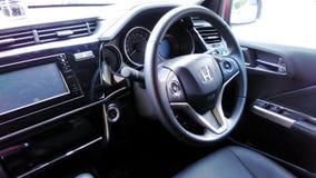 Vista dentro do carro de Honda City Fotos de Stock