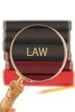 Vista dentro na educação da universidade - lei imagem de stock