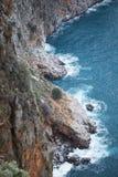 Vista desde arriba de escarpado Foto de archivo libre de regalías