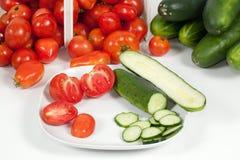 Vista detalhada de tomates chapeados Imagens de Stock Royalty Free