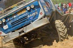 Vista detalhada do caminhão azul Imagem de Stock Royalty Free