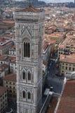 Vista dettagliata del campanile di Firenze Immagine Stock