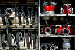 Vista dettagliata dell'autopompa antincendio Fotografie Stock Libere da Diritti
