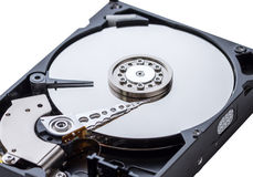 Vista dettagliata dell'interno di un drive del hard disk Fotografia Stock Libera da Diritti