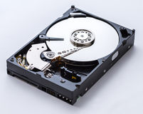 Vista dettagliata dell'interno di un drive del hard disk Fotografie Stock