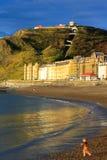 Vista di Aberystwyth con il ragazzo Immagine Stock Libera da Diritti