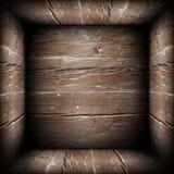 Vista di Abstact dell'interno della scatola di legno illustrazione di stock