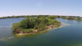 Vista di Aerail del lago video d archivio