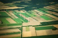 Vista di Aierial dall'aereo immagini stock libere da diritti
