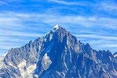 Vista di Aiguille Verte da Chamonix-Mont-Blanc Fotografia Stock