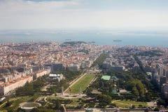 Vista di Airial della città di Lisbona Fotografie Stock Libere da Diritti