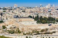 Vista di Al-Aqsa di Gerusalemme Fotografia Stock