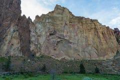 Vista di alba del parco di stato della roccia di Smith nell'Oregon Fotografie Stock