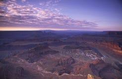 Vista di alba della sosta nazionale di Canyonlands nell'Utah immagine stock libera da diritti