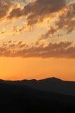Vista di alba in valle di Vipava, Slovenia Fotografie Stock