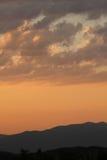 Vista di alba in valle di Vipava, Slovenia Fotografia Stock Libera da Diritti