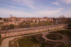 Vista di Albi in Francia Immagine Stock