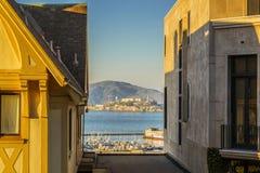 Vista di Alcatraz Fotografia Stock