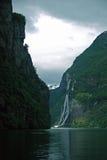 Vista di alcune attrazioni in Geirangerfjord. Fotografia Stock