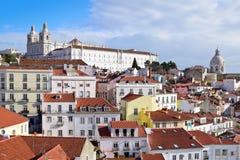 Vista di Alfama a Lisbona Immagine Stock