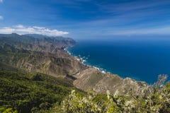 Vista di Almaciga in Tenerife, Spagna Immagini Stock