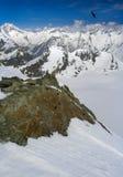 Vista di Alpes Fotografie Stock Libere da Diritti