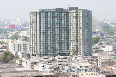 Vista di alta costruzione a Bangkok, Tailandia Fotografia Stock Libera da Diritti