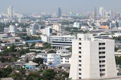 Vista di alta costruzione a Bangkok, Tailandia Fotografia Stock