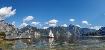 Vista di Altaussee, Austria Fotografia Stock