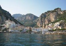 Vista di Amalfi Immagini Stock