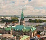 Vista di Amburgo Fotografia Stock