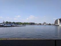 Vista di Amsterdam sopra dal ponte Immagine Stock