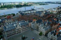 Vista di Anversa Fotografia Stock Libera da Diritti