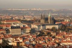 Vista di area del castello di Praga Fotografie Stock