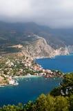 Vista di Assos Grecia Immagine Stock