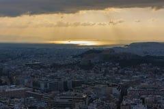 Vista di Atene fotografia stock