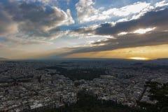 Vista di Atene fotografia stock libera da diritti